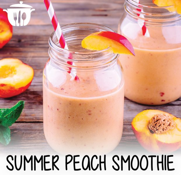Summer peach smoothie