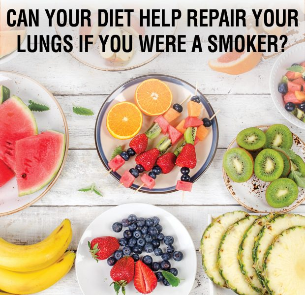Repair lungs with diet