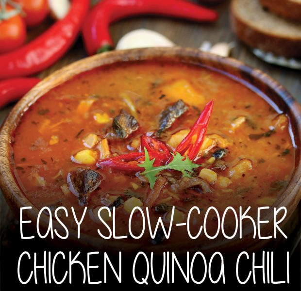 slow-cooker chicken quinoa chili